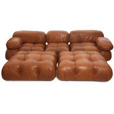 Rare Mario Bellini Camaleonda Sofa and Ottomans Vintage Chairs, Vintage Furniture, Furniture Decor, Modern Furniture, Furniture Design, Classy Living Room, Living Room Seating, Modern Sofa, Modern Living