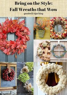 Fall Wreaths That Wo