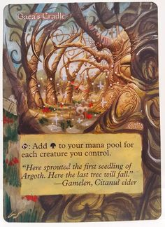 Gaea's Cradle World Champs Edition This Is One Of My Altered Cards From This Weeks Batch! To See Them All Go To   http://stores.ebay.com/MtgAlteredMagicCards #MTG #MtgAddicts #MtgAlteredArt #MtgHandPainted #MtgExtendedArt #Magic #MagicTheGathering #MtgAlter #MtgArt  #WOTC #FNM #EDH