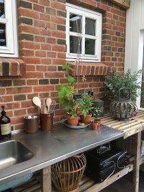 Outdoor Buildings, Garden Styles, Sweet Home, Exterior, Patio, Outdoor Decor, Kitchen, Inspiration, Home Decor