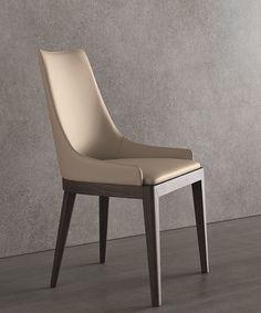 High-back leather chair Cleò Atelier Collection by MisuraEmme | design CRS MisuraEmme