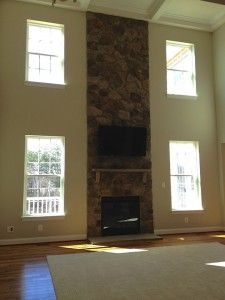 The family room of the Avalon home design by Ryan Homes at Liberty ...
