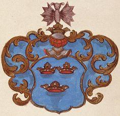 von der Howen (German / Dutch) - with a fledermaus or bat on the helm
