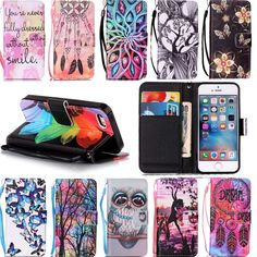 For iPhone 5 5S SE Cases Flip Book Fashion PU Leather Painting Cover Hit Color Phones Case For iPhone 7 Plus 5 5S SE 6 6S Plus
