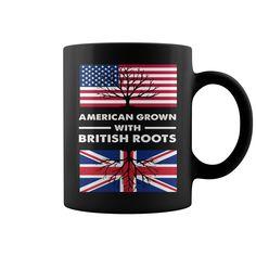 American With British Roots HOT MUG : coffee mug, papa mug, cool mugs, funny coffee mugs, coffee mug funny, mug gift, #mugs #ideas #gift #mugcoffee #coolmug