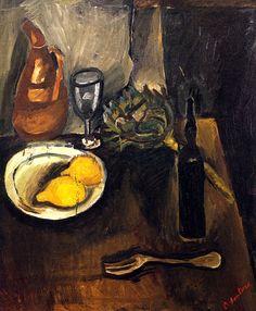 Still LIfe with Lemons  Chaim Soutine - circa 1916