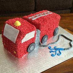 I had so much fun making this firetruck cake! So cute!  #firetruck #cake…