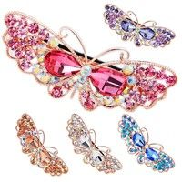 Wish | Cute Women Girls Jewelry Crystal Butterfly Hair Clip Headwear Ornament Barrettes Hairpin