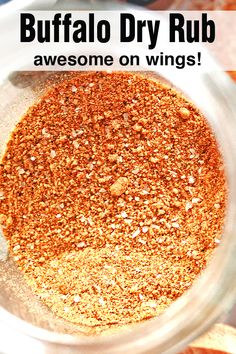 Buffalo Dry Rub for Chicken Wings - Buffalo dry rub that is AMAZING on chicken wings. It's not too spicy, but you can easily adjust t - Chicken Wing Seasoning, Chicken Spices, Buffalo Wings Seasoning Recipe, Buffalo Wild Wings Dry Rub Recipe, Homemade Spices, Homemade Seasonings, Dry Rub For Chicken, Smoked Chicken Wings Rub, Marinade For Chicken Wings