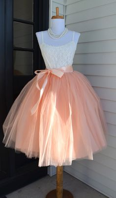 Womens Tutu Blush Pink Tulle skirt Pale by MaidenLaneBoutique
