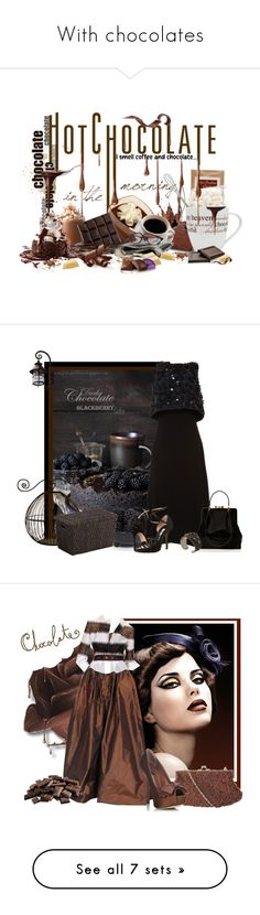 """""""With chocolates"""" by marthecha ❤ liked on Polyvore featuring art, Crate and Barrel, Holly Fulton, Oscar de la Renta, Lulu Guinness, REMINISCENCE, J. Furmani, Dolce&Gabbana, beauty and Anastasia Beverly Hills"""