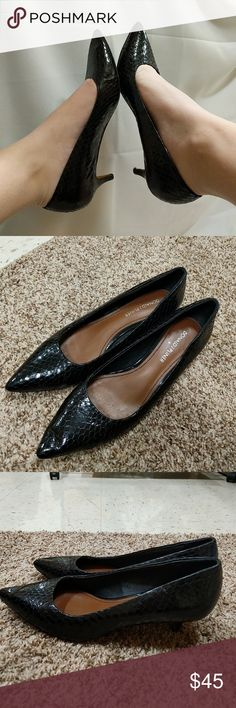 Donald j. pliner 6.5 snake skin heels 1 in kitten heels Donald j.  pliner great shape Donald J. Pliner Shoes Heels