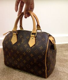4efa06dfa6 Authentic Louis Vuitton Speedy 25 Monogram France Handbag Date Code SD 2008