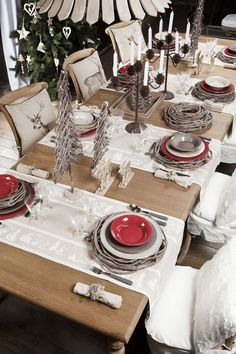 1000 id es sur le th me d corations de table de f te sur pinterest tables d - Deco table noel chic ...