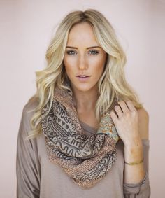 Loving this Taupe Tribal Cuff Infinity Scarf on #zulily! #zulilyfinds