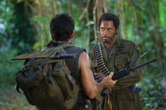 Robert Downey Jr. and Ben Stiller in Tropic Thunder.