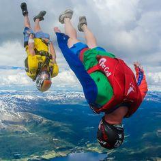 Wild blue yonder in #Voss, #Norway! #AdrenlineDrive #SkydiveDubai #ekstremsportveko