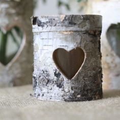 #The Wedding of My Dreams - Rustic Bark Tea Light Holder  absolutely perfect for our woodland themed wedding @Matt Valk Chuah Wedding of my Dreams