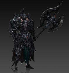 Two types of Berserker armor Fantasy Races, Fantasy Armor, Fantasy Weapons, Anime Fantasy, Fantasy Concept Art, Fantasy Character Design, Dark Fantasy Art, Character Art, Monster Concept Art