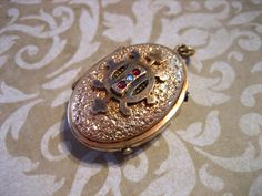 Antique Victorian Edwardian Repousse Mourning by charmingellie, $135.00