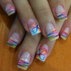 Beach Nail Designs, French Tip Nail Designs, French Tip Nails, Nail Designs Spring, Beautiful Nail Designs, Acrylic Nail Designs, Nail Art Designs, Luv Nails, Nails Now
