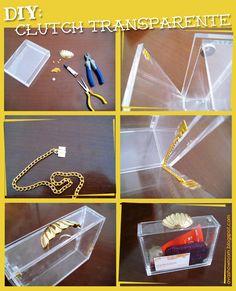 DIY Transparent clutch
