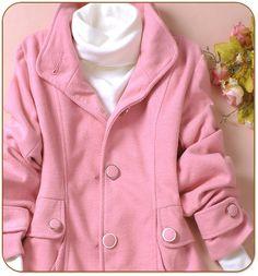 Pink Collar Neck Coat
