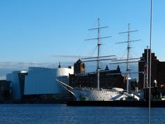The Gorch Fock was built in 1933 as school ship for the German Reichsmarine. Today it is a museum ship in Stralsund. The name origins form the author Johann Wilhelm Kinau, who used the pseudonym Gorch Fock for his works. Sailing Ships, Boat, Urban, Navy, School, Building, Places, Travel, Voyage