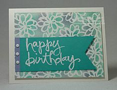 Watercolor Words Scribble Flowers Embossed by dreamingaboutrubberstamps.com -  With the scribble flowers from the Watercolor Words stamp set and Bermuda Bay, Wisteria Wonder and Pool Party inks and card stocks, you can make a variety of card layouts and designs