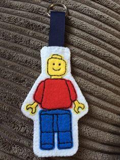 Lego man keyring, felt