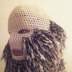 Mask by #threadstories #workinprogress #fibreart https://instagram.com/threadstories