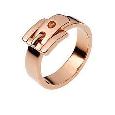 MICHAEL KORS ROSE GOLDEN BUCKLE RING £59