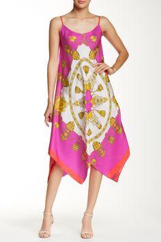 """Asymmetrical Dress in """"Hot Pink Regatta   Julie Brown"""