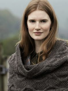 Kendal Snood from Lakeland by Marie Wallin features 14 handknit designs for women and the home. It is a celebration of British heritage wear, the stunning Lakeland landscape and of British woollen yarns | English Yarns