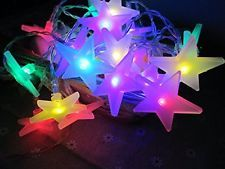 M&T TECH 20 Star LED Christmas Tree Lights Battery Operated Fairy Lights for Ind