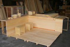 another full floor and ofuro, as well as sink made in hinoki