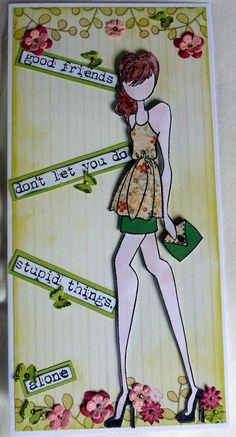 Julie Nutting doll stamp (Kate)