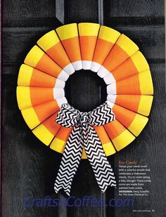 Fabulous wreath! It's in the 2015 issue of Halloween Tricks & Treats, on…