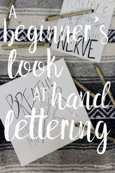 where to get started in hand lettering? Take a look at how I got started and the resources I use.Wondering where to get started in hand lettering? Take a look at how I got started and the resources I use. Hand Lettering For Beginners, Hand Lettering Tutorial, Hand Lettering Fonts, Doodle Lettering, Creative Lettering, Lettering Styles, Brush Lettering, Lettering Design, Monogram Fonts