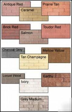 staining concrete block   Brick block concrete stone stain tint dye sample kit
