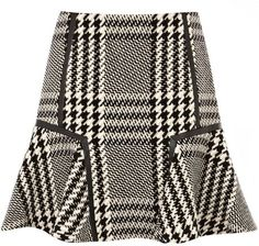KAREN MILLEN  Statement Check Skirt