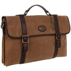 Fossil Estate Wax Canvas Portfolio Briefcase - designer shoes, handbags, jewelry, watches, and fashion accessories | endless.com