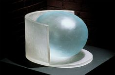 Jun Kaneko cast glass Japanese born , resides in US. Works in glass, pottery, textiles, painting, you name it!