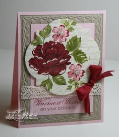 Cherry Stippled Blossoms by Crazy4Stampin - Cards and Paper Crafts at Splitcoaststampers