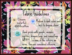Some fabric guidelines for liners.