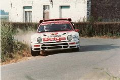 Ford RS200 rally car Sports Car Racing, Racing Team, Race Cars, Ford Rs, Old Fords, Rally Car, Formula One, Nascar, Automobile
