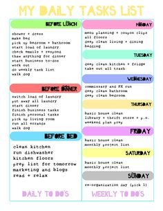 DAILY To Do List 1sheet PRINTable by lizzieloucreations on Etsy ...