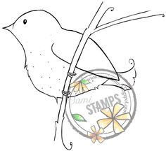 """Items similar to Digital Stamp """"Bird On Branch"""" on Etsy Bird On Branch, Digital Stamps, Scrapbooks, Bookmarks, Snoopy, Etsy Shop, Make It Yourself, Website, Unique Jewelry"""