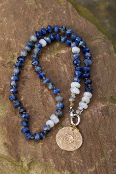 Denim knotted necklace  Boho chic bronze sugar by Mollymoojewels, £76.00