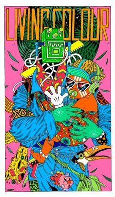 Les illustrations acides de Bicicleta Sem Freio illus acide colour fluo 05 467x800